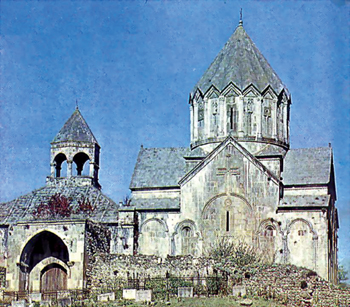 Gandzasar. 13th century. General view of the complex, Karabakh, Aghdere District