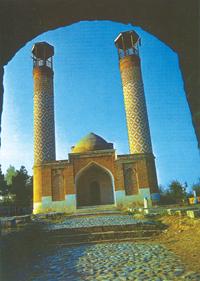 General view of Cuma mosque in Agdam