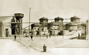 Nobel Brothers' kerosene plant in Baku