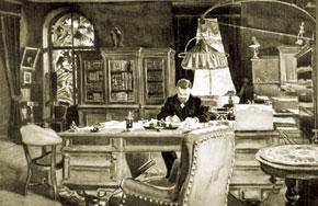 E.L Nobel in his study