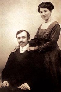 Uzeyir Hajibeyov with his wife Meleyke khanum