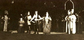 Scene from Koroglu, 1964. Koroglu - Lutfiyar Imanov, Nigar - Firengiz Ehmedova