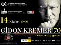 Latvian classical violinist Gidon Kremer to perform in Baku