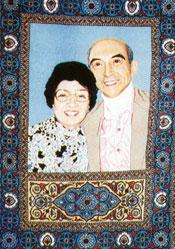 Carpet portrait of Lotfi Zadeh and his wife Faina