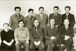 Young Landau with his colleagues