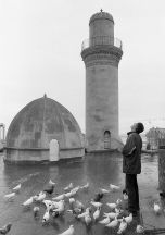 On the roof of a mosque in the  Old City, 2014.  Photos by Ilkin Yagubov