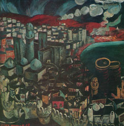 Baku by Togrul Narimanbayov, oil on canvas, 1965