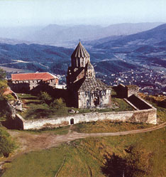 Gandzasar, general view of the complex, Aghdara District, 13th century
