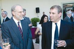 BP Azerbaijan Director David Woodward and Prince Andrew