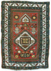 Karabakh carpet, 1841, from the Klain's collection. Germany