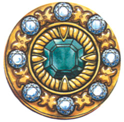Brooch of Khurshid Banu Natavan, granddaughter of Karabakh khan Ibrahim Khalil. Emerald, diamonds
