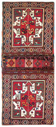 Karabakh carpet items from private collections in Europe and America - Saddlebag, Khurjin, mid-19th century
