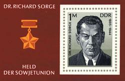 GDR postage stamp commemorating Richard Sorge