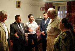 Member of the UK's House of Lords and the Advisoty Board of the European Azerbaijan Society visiting the temporary housing, in Baku, of internally displaced people from Karabagh and surrounding regions