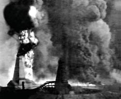 "Scene from the film ""Fire at an Oil Well in Bibi Heybat"", 1898"