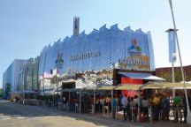 Queues can often be seen outside the Kazakh exposition, which shows 3D films