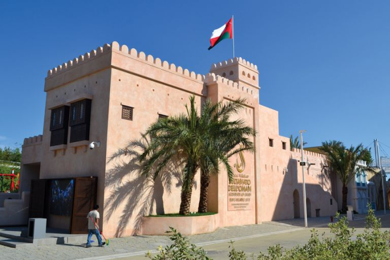 The Oman pavilion provides a gateway to the east