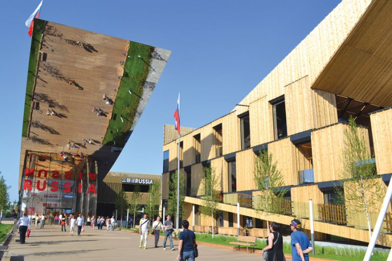 The Russian pavilion is another of the most popular at this year's Expo