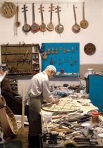 Elshad in his former workshop in Baku