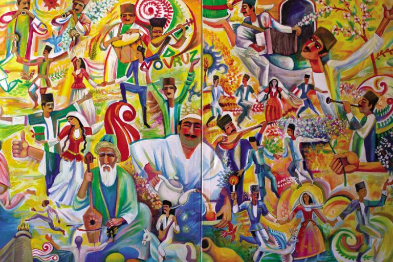A new painting on the theme of Novruz