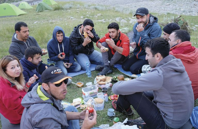 Picnicking with the team from Vertical Azerbaijan