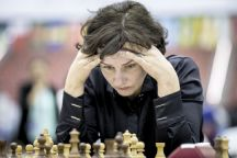 Latvian Finance Minister and chess Woman Grandmaster Dana Reizniece- Ozola