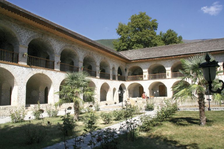 The Yuxari Karavansaray (Upper Caravanserai) functions as a hotel today, with room prices starting from 20AZN a night