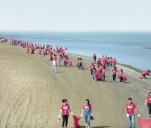 Let's Do it! Azerbaijan and Coca Cola Coastal Cleanup 2015, hundreds of volunteers cleaning up the Caspian Coast.