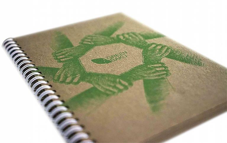 The fi rst Green Baku notepad design