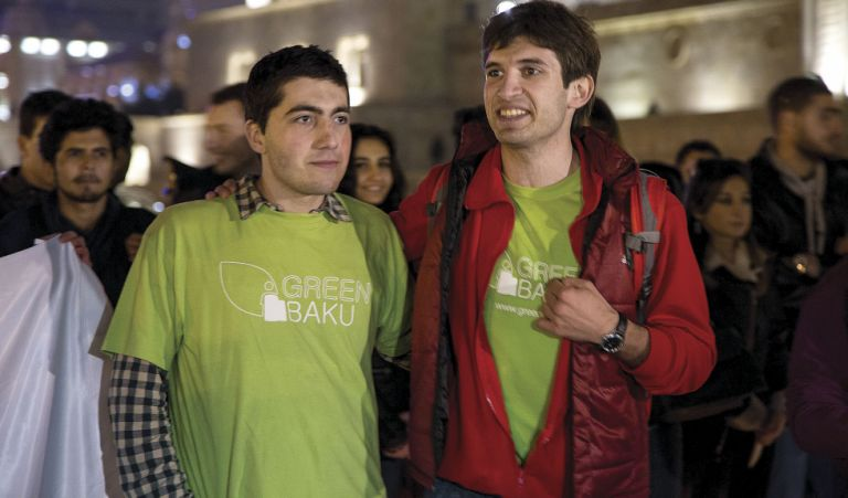 Earth Hour Azerbaijan 2015, Founder of Green Baku Elvin Damirov and Chairman Samir Gadirov