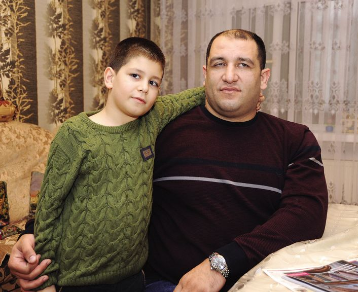 Ilham with his elder son