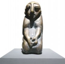 Praying Woman, Bronze, by Fazil Najafov