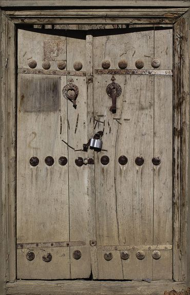 Double-knocker door in Ordubad