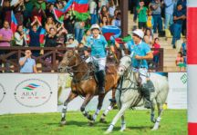Azerbaijan celebrate victory over Germany in the final on 12 September
