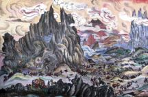 Timur's seige of Alinja as imagined by Togrul Narimanbekov