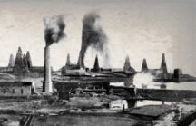 The oil fields around Baku where Dunsterforce reportedly landed in August 1918