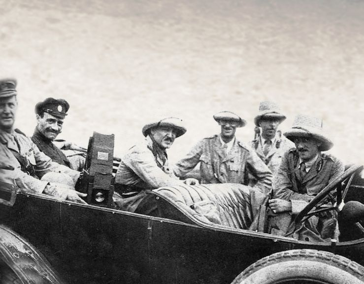 Brigadier-General Dunsterville (far left) with staff of Dunsterforce