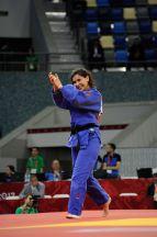 Turkish judoka Nazlican Ozerler defeats Kyrgyzstan's Ksenia Beldiagina on 13 May. Photo: Eldar Farzaliyev