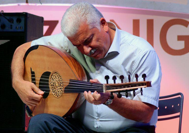 Oud player Mirjavad Jafarov. Photo: Sabina Tumanskaya