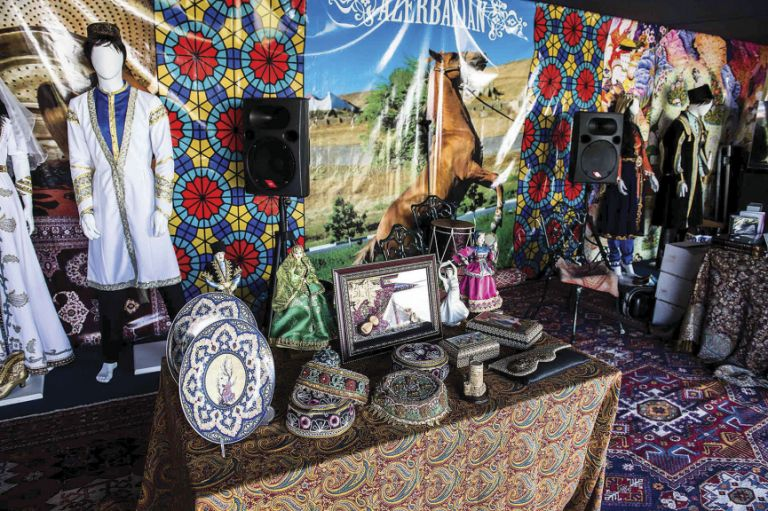 TEAS organised and manned the Azerbaijani Cultural Pavilion, discussing the country's diverse history, tourist potential and the background to the glorious Karabakh Horse