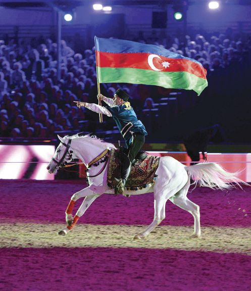 The performance of the Karabakh Horses evoked pleasant memories for H.M. The Queen