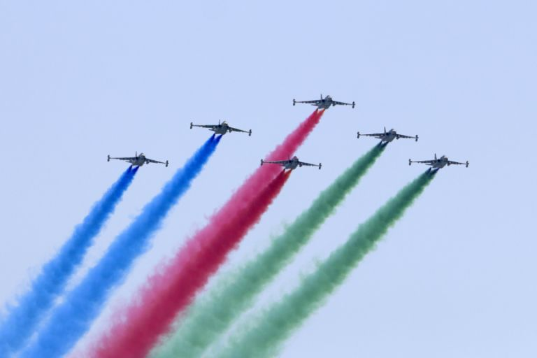 Some 70 aircraft took part in the parade according to local press reports. Photo: Azertaj