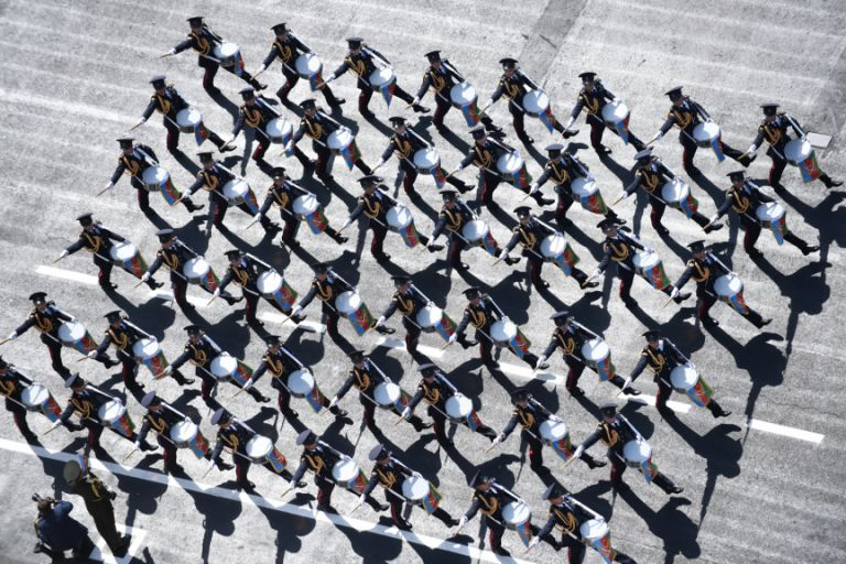 A military band performs on Azadliq Square. Photo: Azertaj