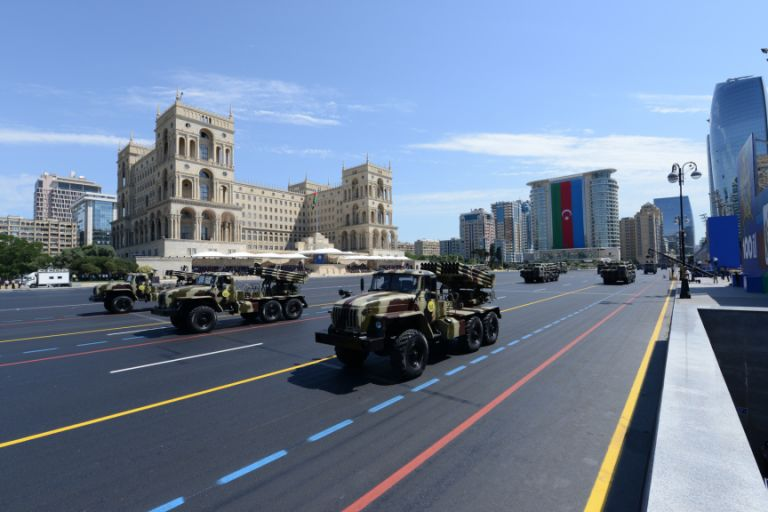 270 units of military equipment were also on display. Photo: Azertaj