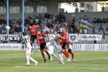 Neftchi playing Qabala in a Premier League game on 18A ugust 2012. Neftchi won 3-0. Photo: Eldar Farzaliyev