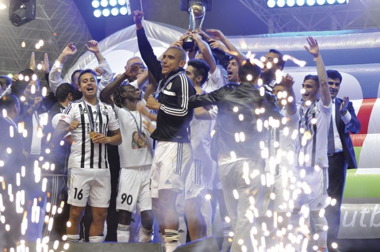 Neftchi winning the Azerbaijan Cup in 2014, having beaten Qabala on penalties. Photo: Eldar Farzaliyev