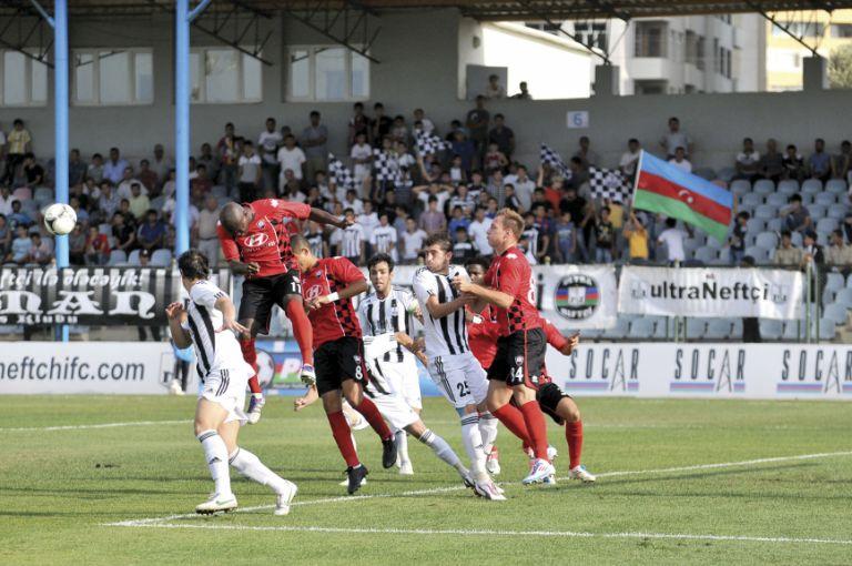 Neftchi playing Qabala in a Premier League game on 18A ugust 2012. Neftchi won 3-0. Photo: Eldar Farzaliyev