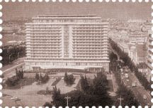 The old Azerbaijan hotel is now the Hilton Baku