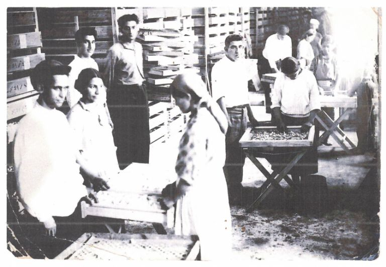 Workers of the Aghdam silkworm breeding plant, 1935