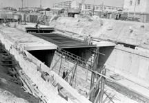 Early construction of the Baku Metro. 10 September 1966. Photo: Azertaj